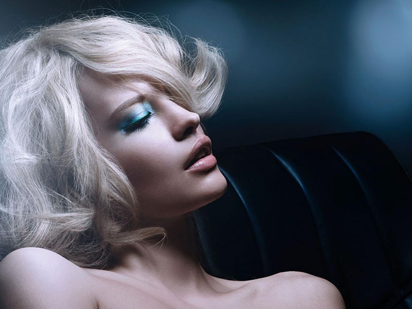 девушка, лицо, губы, взгляд, волосы, красивая