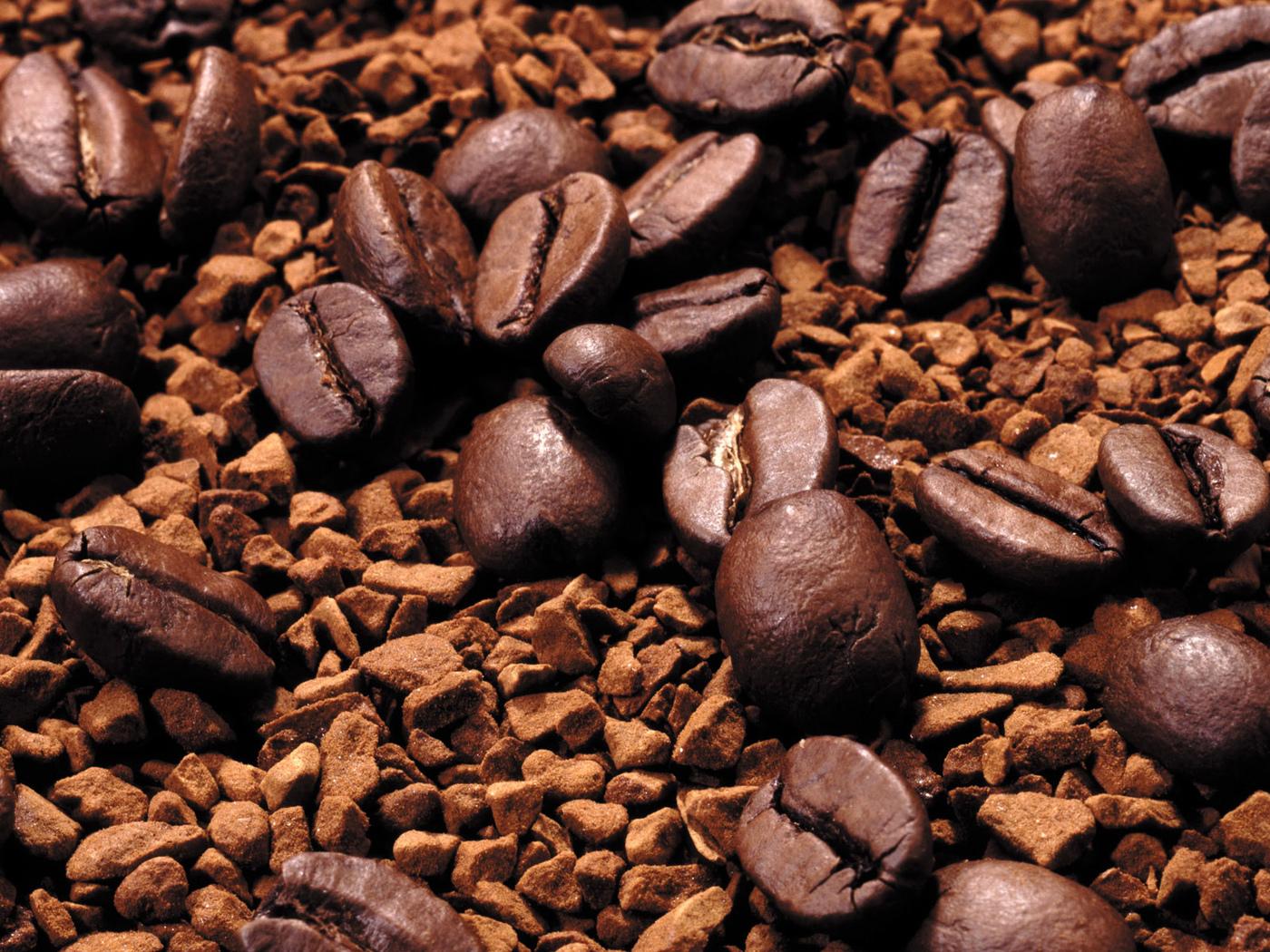 кофе, зерна, фон