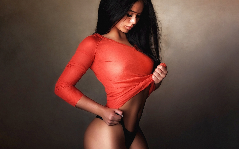 девушка, модель, позирует, в белье, проф фото