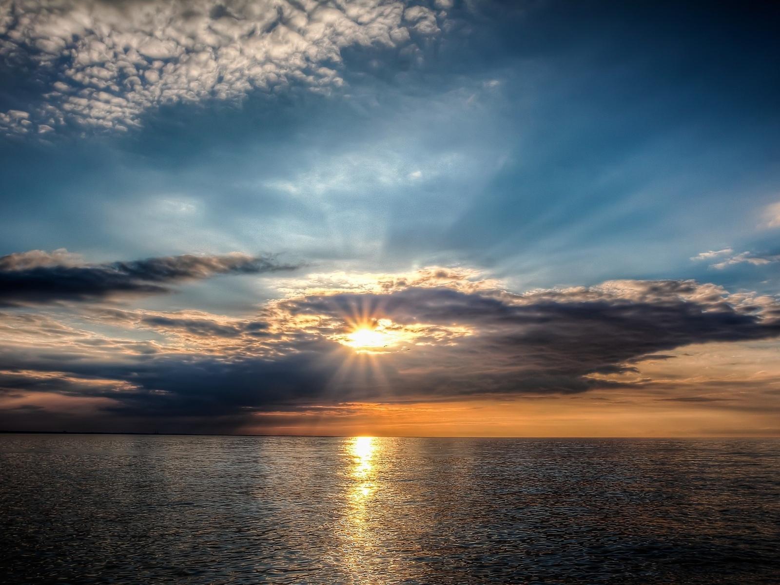 океан, солнце
