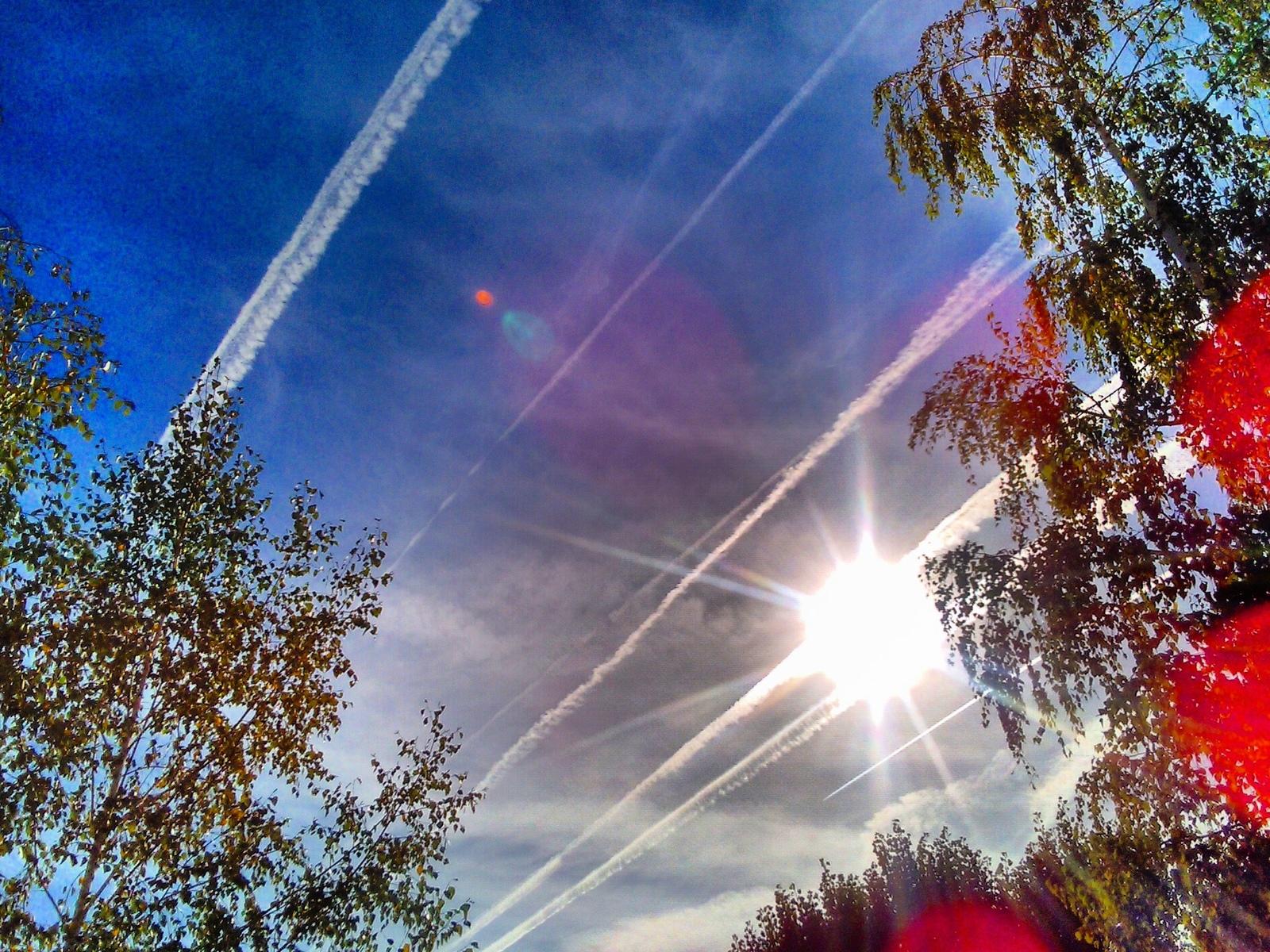 небо, полосы