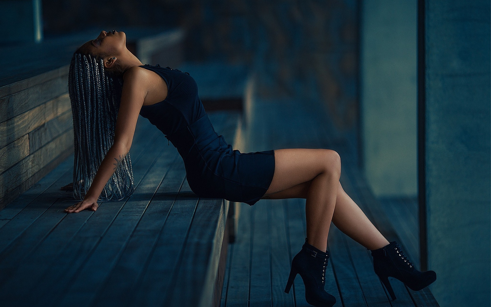 девушка, модель, позирует