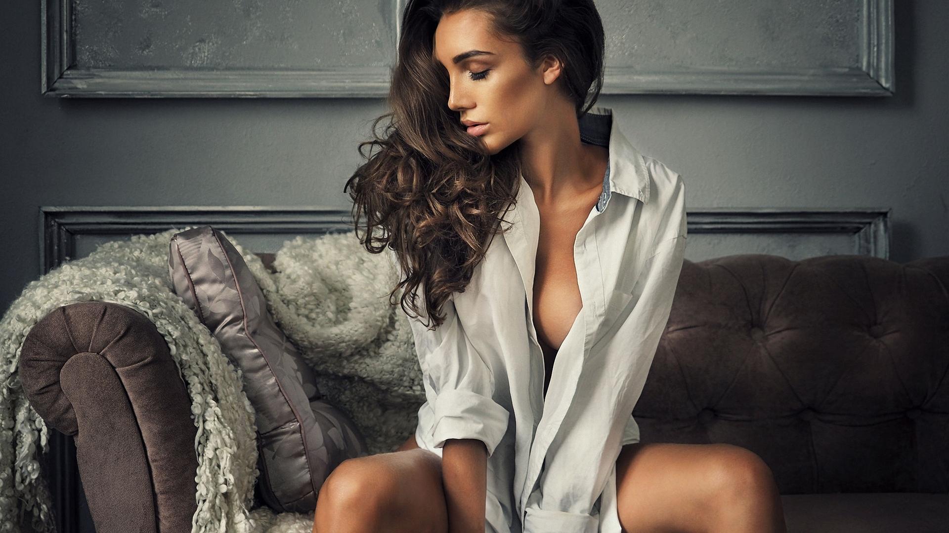 девушка, в рубашке, проф фото