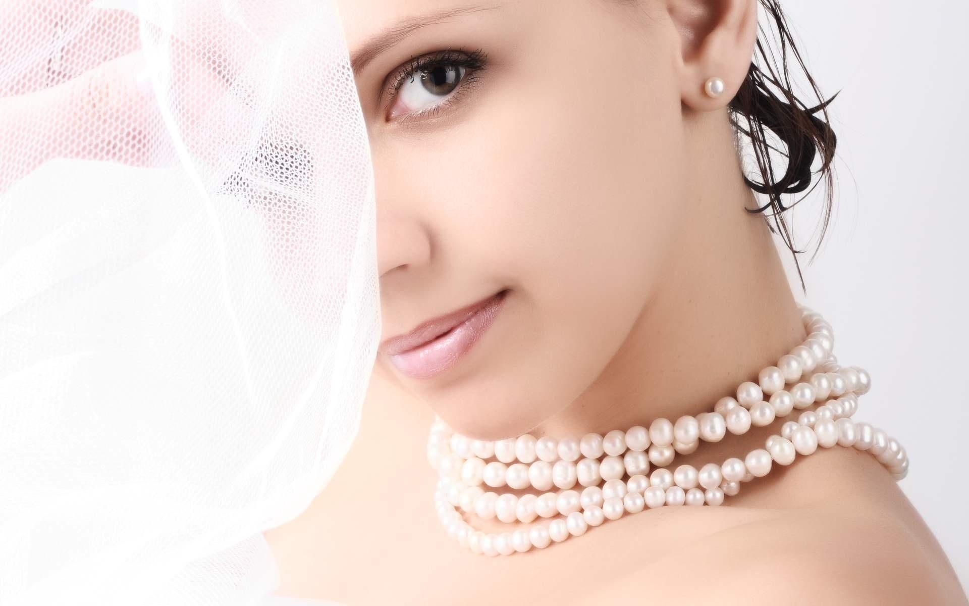 девушка, красивая, лицо, белый фон