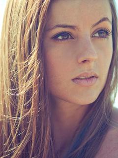 лицо, красивая, близко, глаза, губы