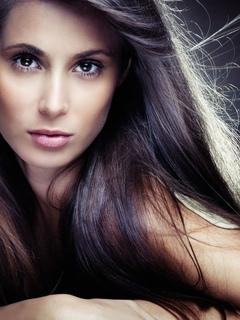 девушка, лицо, красивая, глаза
