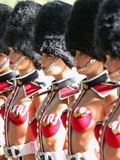 девушки, отряд, форма, модели