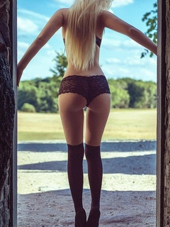 девушка, позирует, модель, в белье