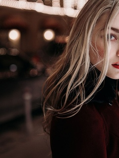 девушка, взгляд, портрет