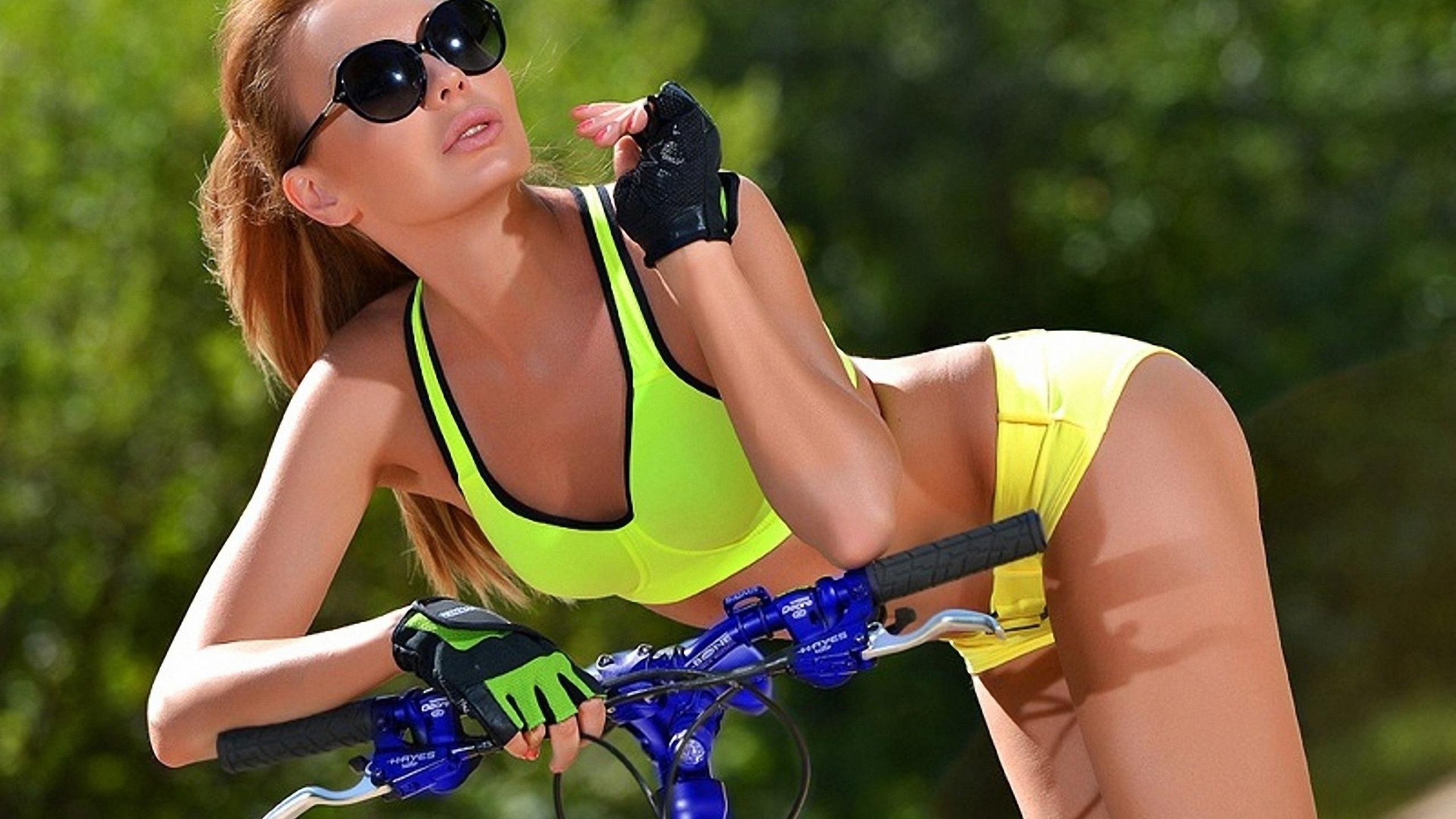 девушка, модель, позирует, спорт, фитнес