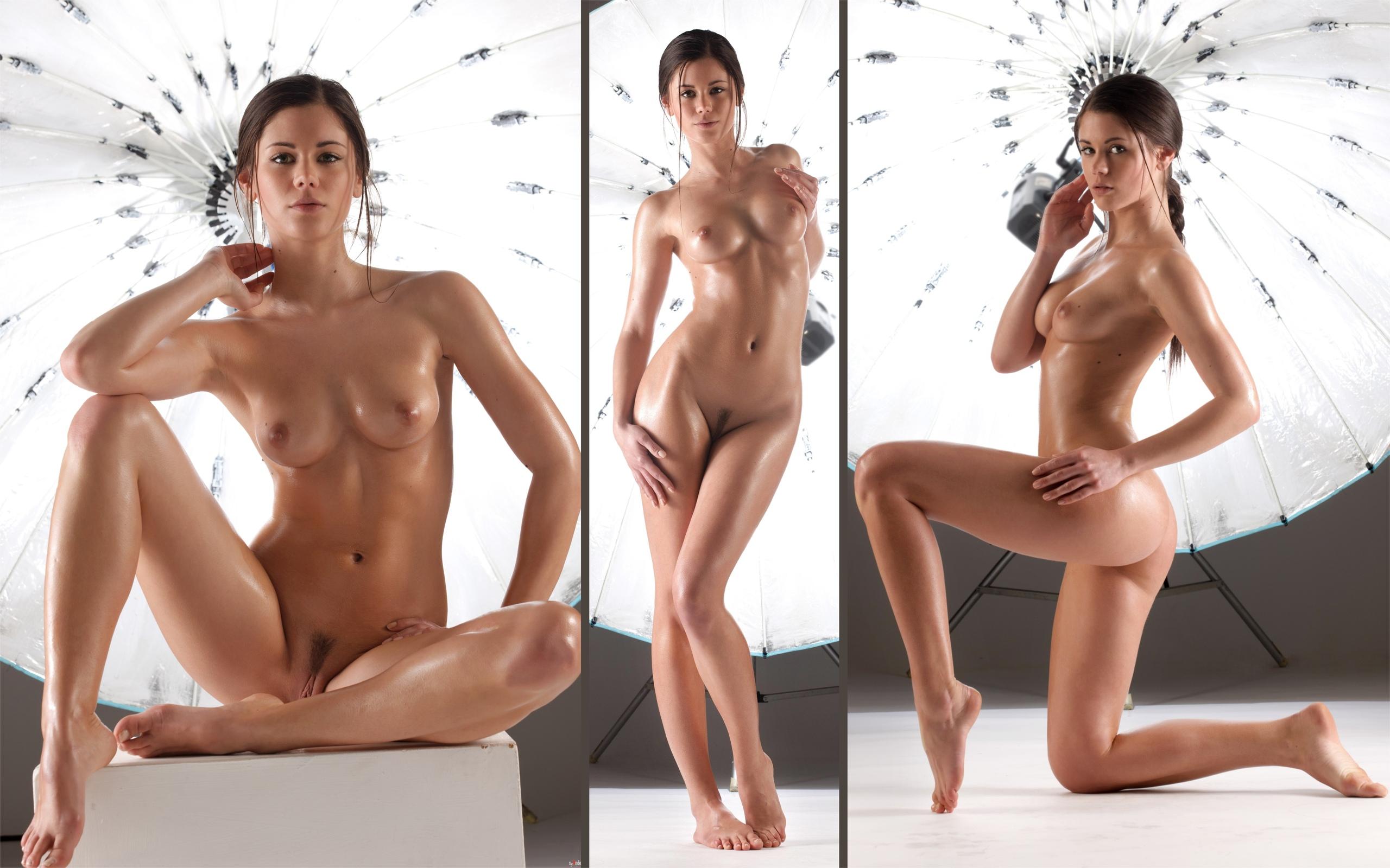 позирует, свет, голая, красивая, грудь
