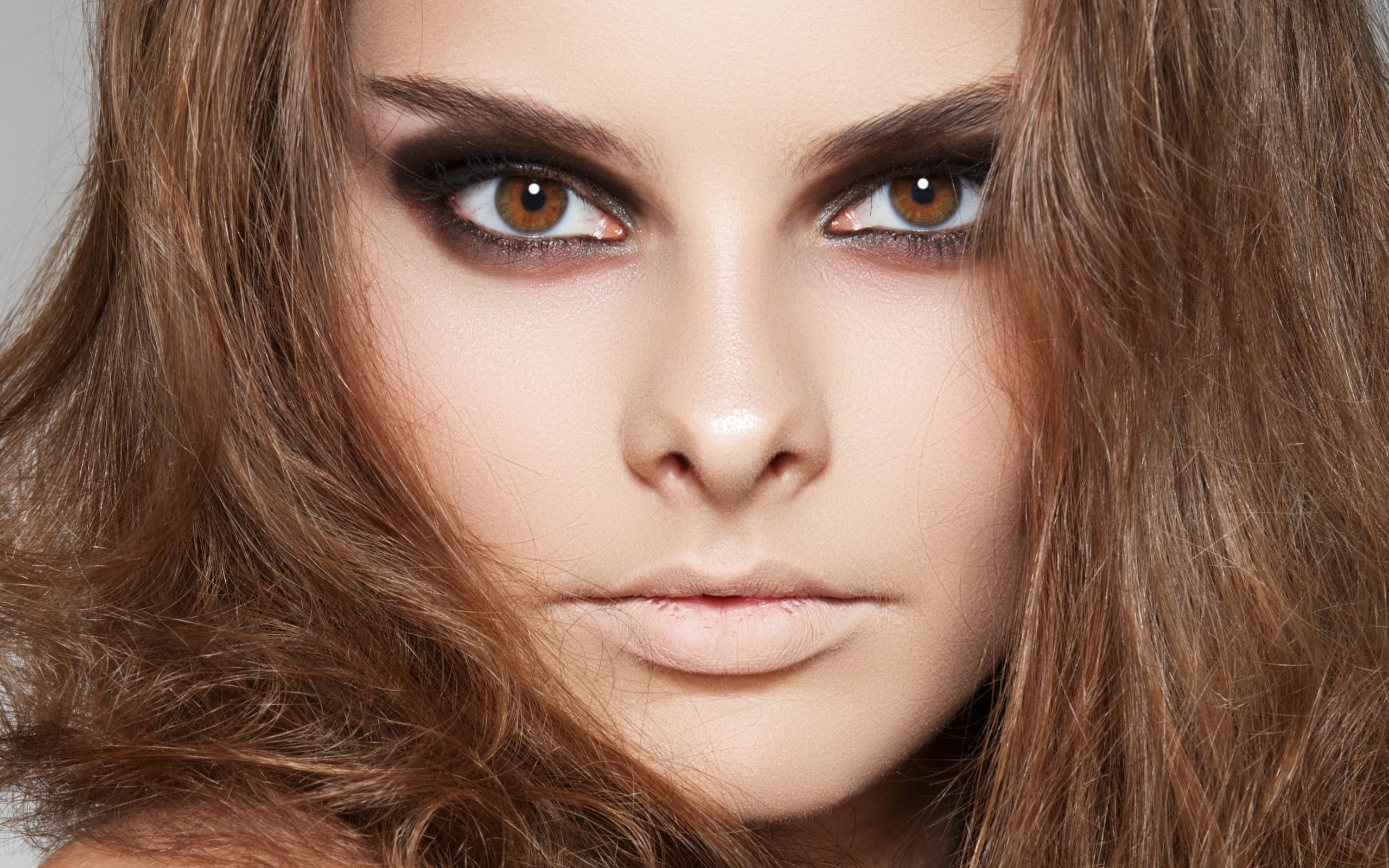 высокое качество, лицо, волосы, модель, яркий макияж, глаза