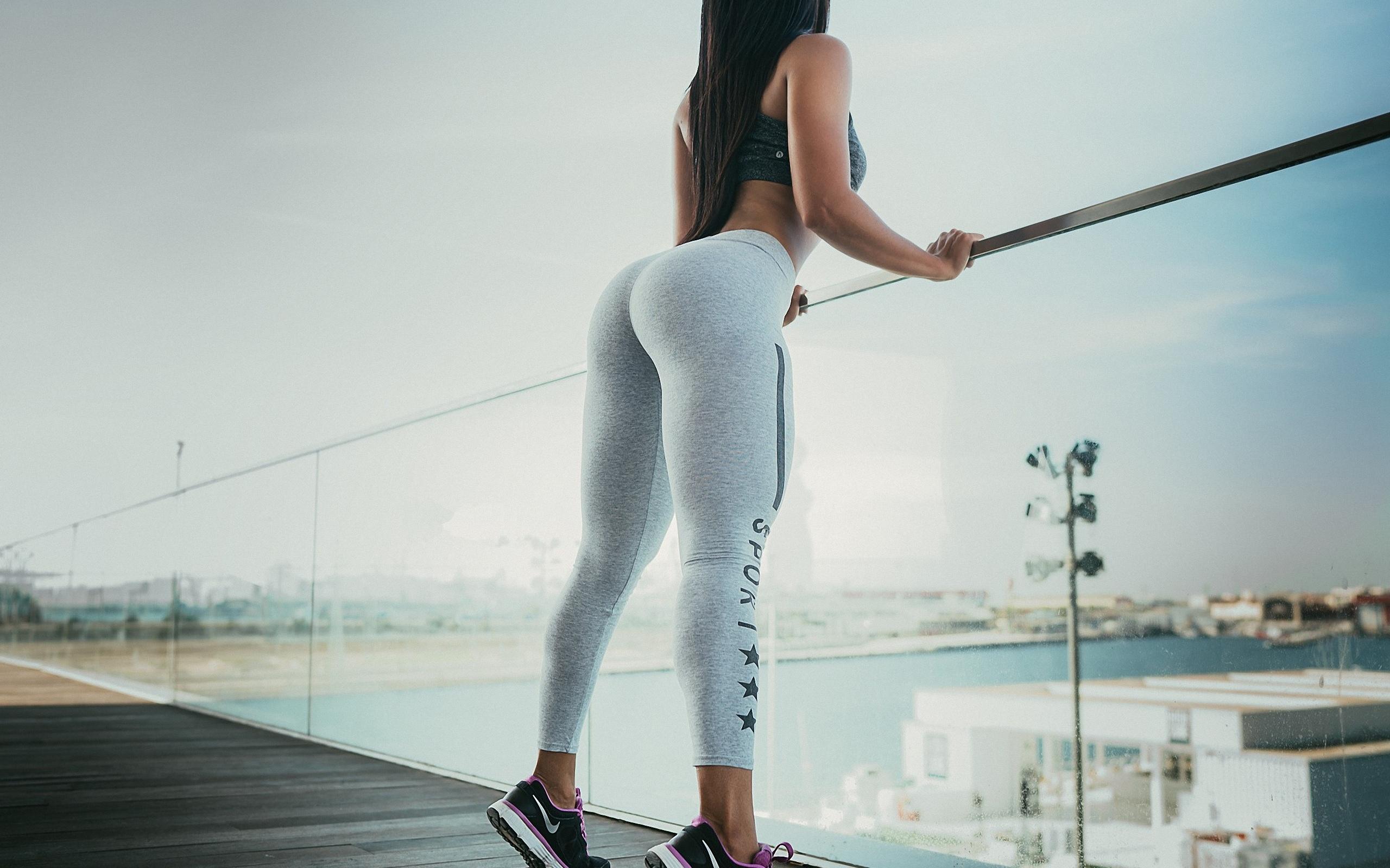 девушка, модель, позирует, спорт, фигура