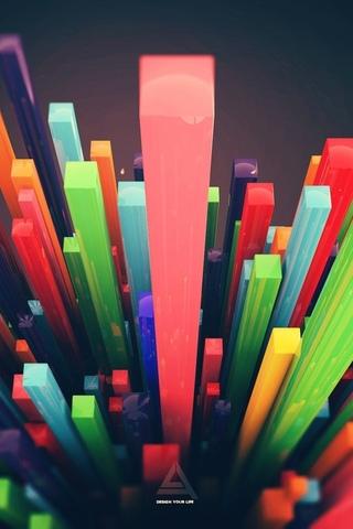 кубы, разноцветные
