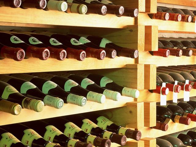 вино, бутылки, хранилище
