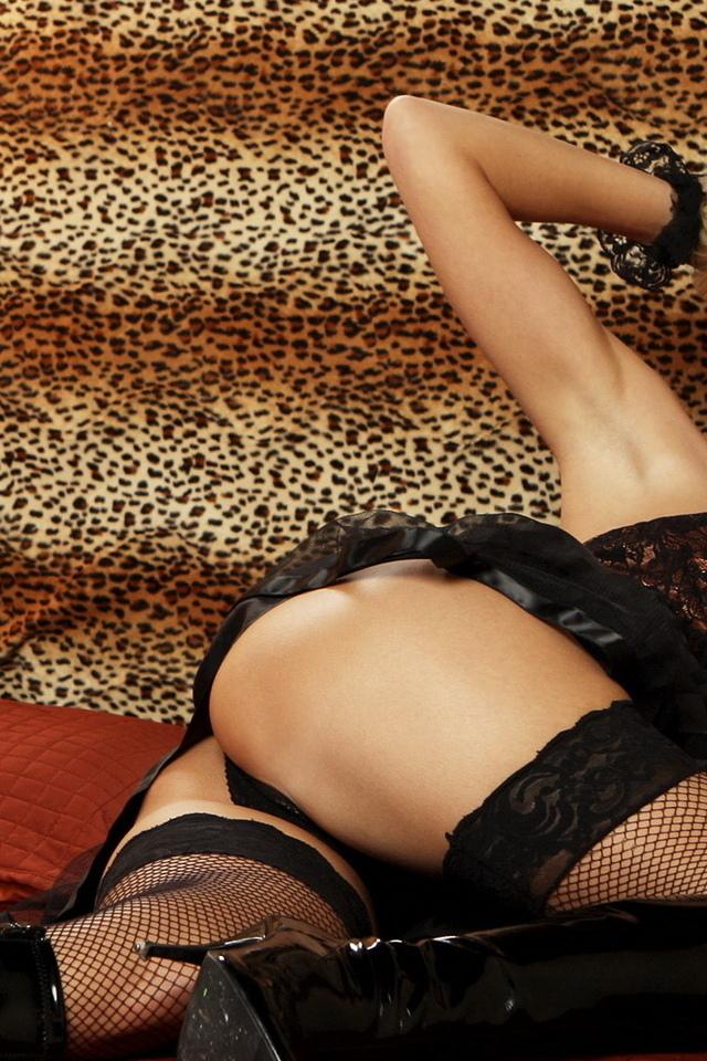 девушка, попка, бедра, чулки, секси, белье, сапожки, ножки