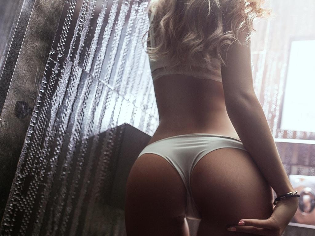 женщины, блондинка, разрыв, назад, белое белье, вид сзади, брюнетка, pоман polyanchev, жопа