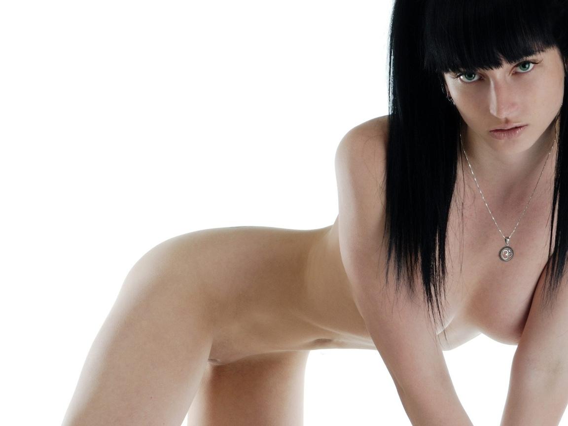 black hair, тощие, молодые, подростки, эротика, минималистский стена, сексуальная красотка, волосы цвета воронова крыла, тонкий, корпус
