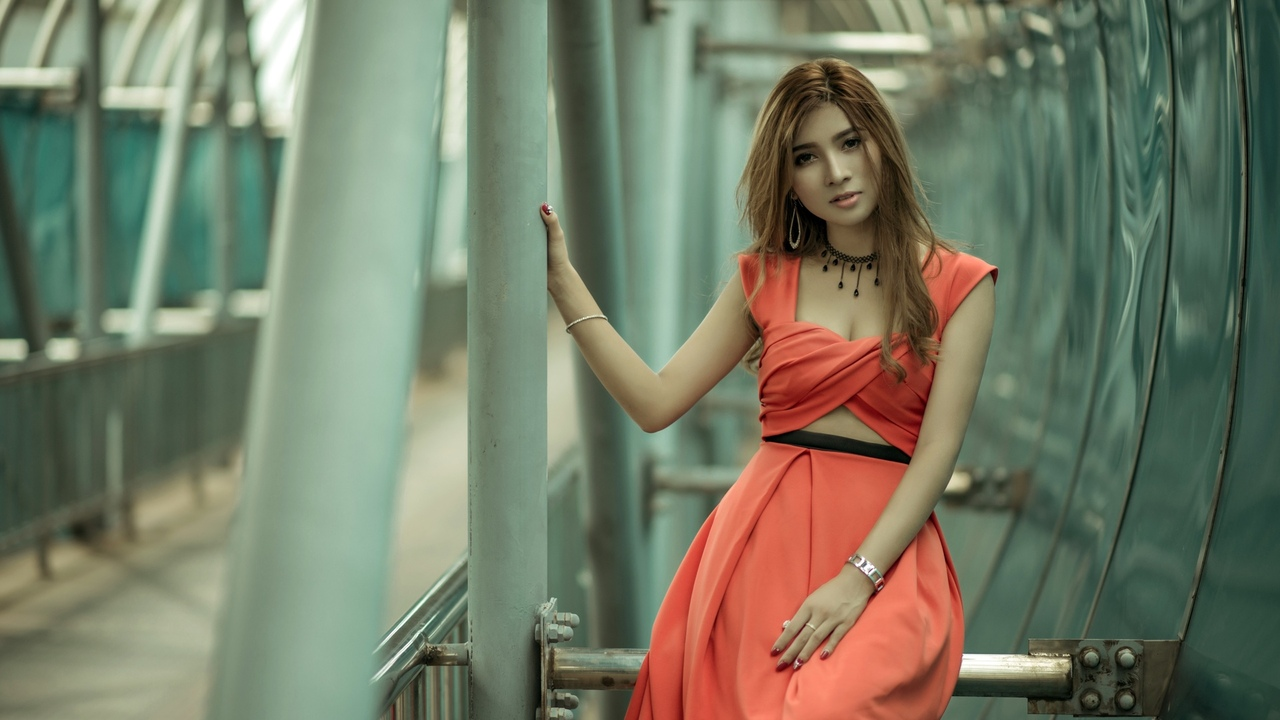 азиатский, женщины, модель