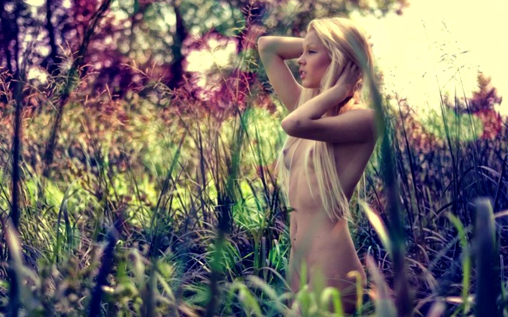 модель, на открытом воздухе, эротика, девушки, голые, голые, грудь, блондинка