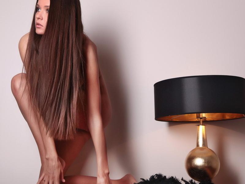 chantelle a, брюнетка, детка, длинные волосы, лампа